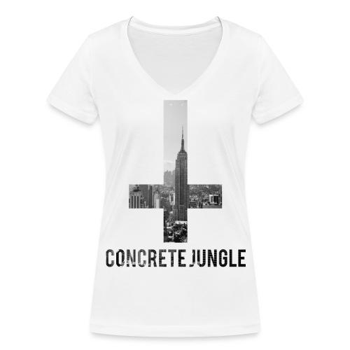 Concrete Jungle Ladies Tee - Ekologisk T-shirt med V-ringning dam från Stanley & Stella