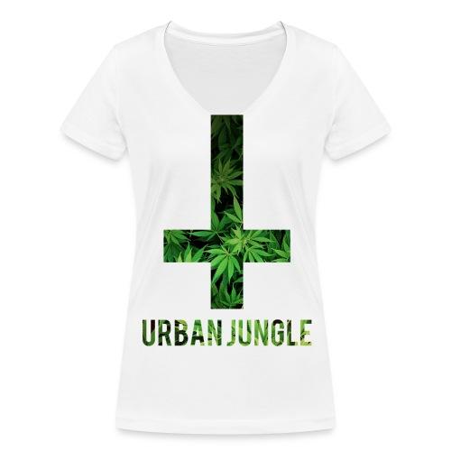 Urban Jungle Ladies Tee - Ekologisk T-shirt med V-ringning dam från Stanley & Stella
