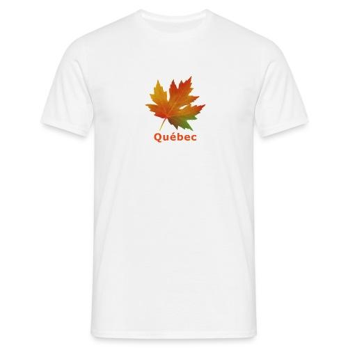T-shirt Québec feuille automne - T-shirt Homme