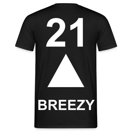 BREEZY 21 (BLACK Version) - Men's T-Shirt