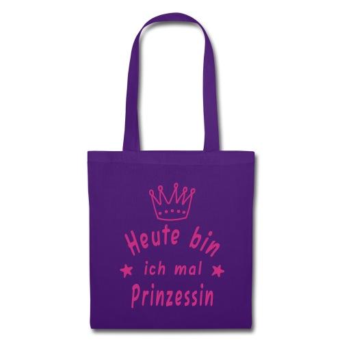 Heute mal Prinzessin, Stoffbeutel, Tasche, Mädchen, geschenk, Weihnachten, Geburtstag, Krone - Stoffbeutel
