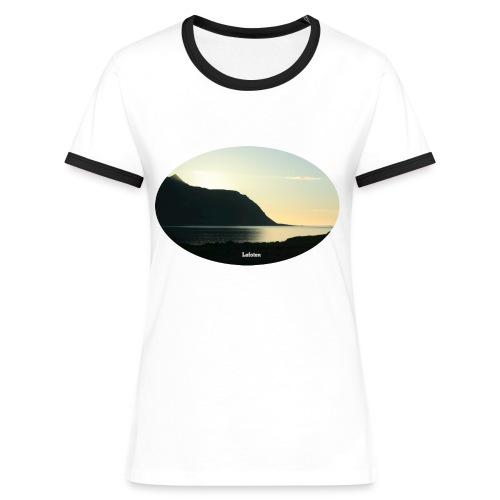 T-skjorte Kontrast - Kontrast-T-skjorte for kvinner