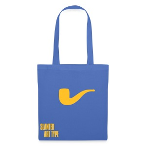 Slanted – Art Type / Blue Yellow / Totebag - Stoffbeutel