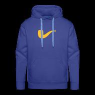 Pullover & Hoodies ~ Männer Premium Kapuzenpullover ~ Slanted – Art Type / Hoodie Blue Yellow / Man