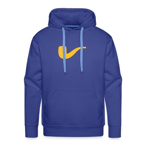 Slanted – Art Type / Hoodie Blue Yellow / Man - Männer Premium Hoodie