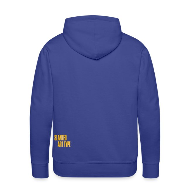 Slanted – Art Type / Hoodie Blue Yellow / Man