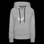 Pullover & Hoodies ~ Frauen Premium Kapuzenpullover ~ Slanted – Art Type / Hoodie Grey White / Woman