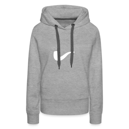 Slanted – Art Type / Hoodie Grey White / Woman - Frauen Premium Hoodie