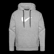Pullover & Hoodies ~ Männer Premium Kapuzenpullover ~ Slanted – Art Type / Hoodie Grey White / Man