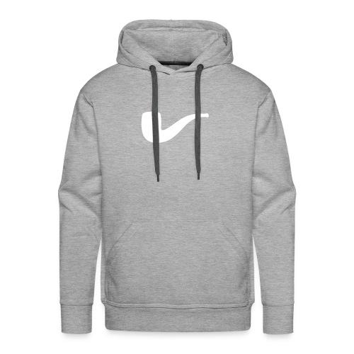 Slanted – Art Type / Hoodie Grey White / Man - Männer Premium Hoodie