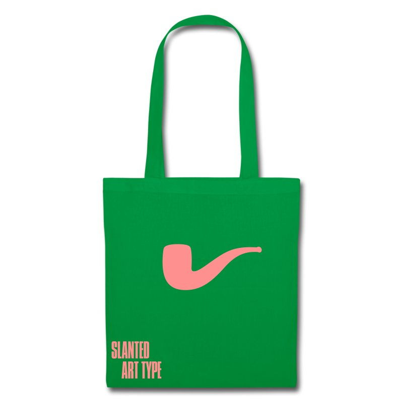 Slanted – Art Type / Green Rose / Totebag - Stoffbeutel