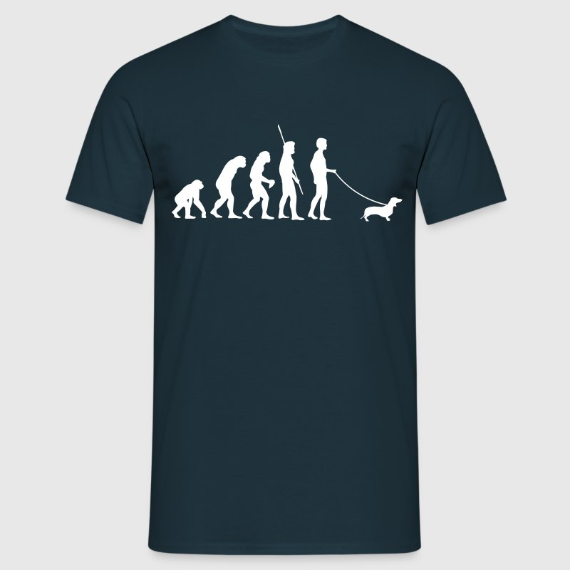 Teckel Evolutie  T-shirts - Mannen T-shirt