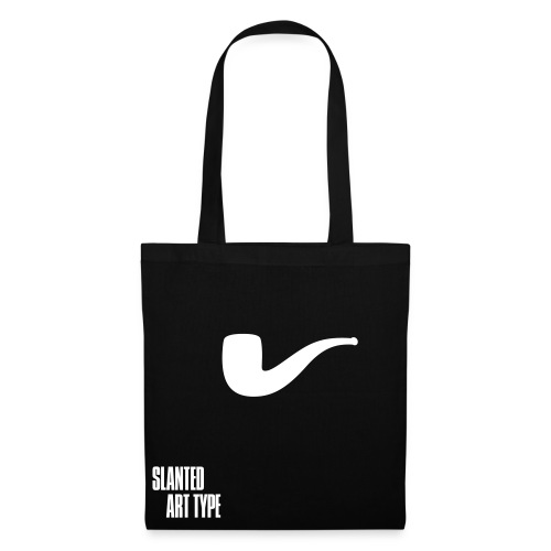 Slanted – Art Type / Black White / Totebag - Stoffbeutel