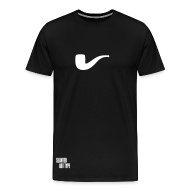 T-Shirts ~ Männer Premium T-Shirt ~ Slanted – Art Type / Black White / Man