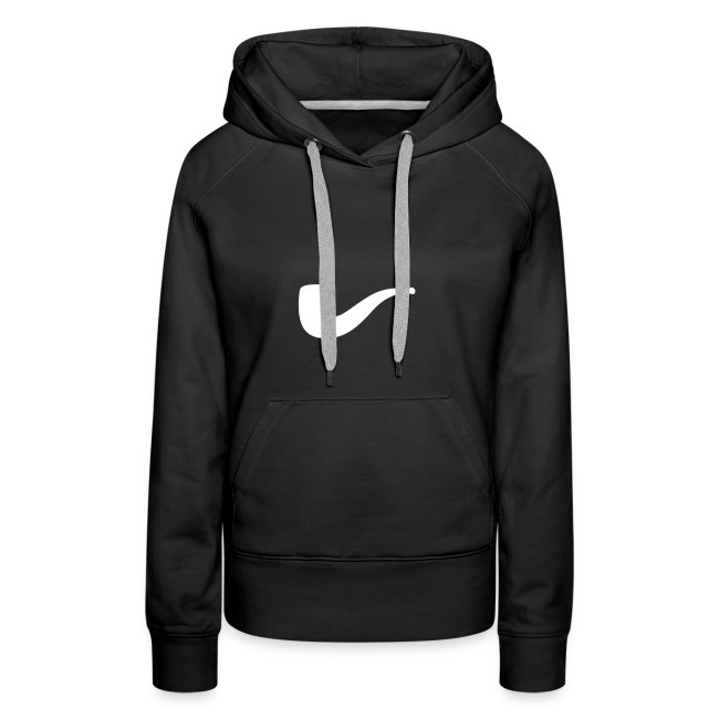 Slanted – Art Type / Hoodie Black White / Woman