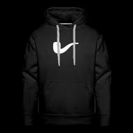 Pullover & Hoodies ~ Männer Premium Kapuzenpullover ~ Slanted – Art Type / Hoodie Black White / Man