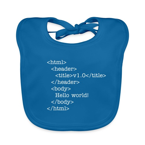 Hello world! - Baby Organic Bib