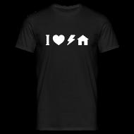 T-Shirts ~ Men's T-Shirt ~ I love electro house basic TS W Man