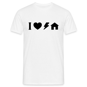I love electro house basic TS Man - Men's T-Shirt