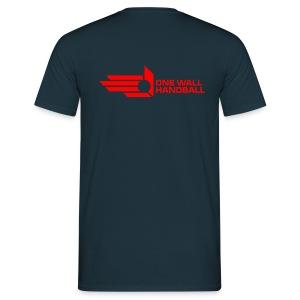One Wall Handball  - Urban Basic Logo in Rood - Mannen T-shirt