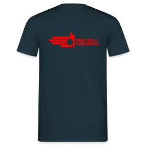 One Wall Handball  - Urban Basic Logo in Rood - Mannen T-shirt