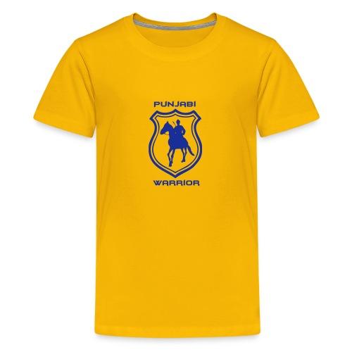 Yellow Kid's Punjabi Warrior - Teenage Premium T-Shirt