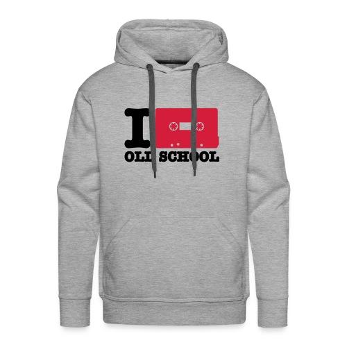 i love Old School - Sweat-shirt à capuche Premium pour hommes