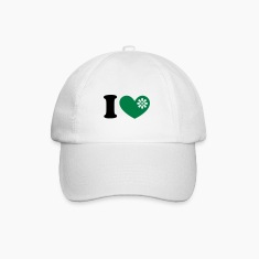 I heart organic green food, love, like, vegan, eco Caps & Hats