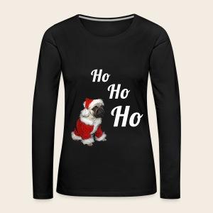 Weihnachtsmops  - Langarmshirt - Frauen Premium Langarmshirt