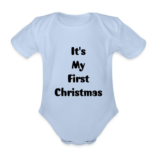 It's my first christmas - Baby bio-rompertje met korte mouwen