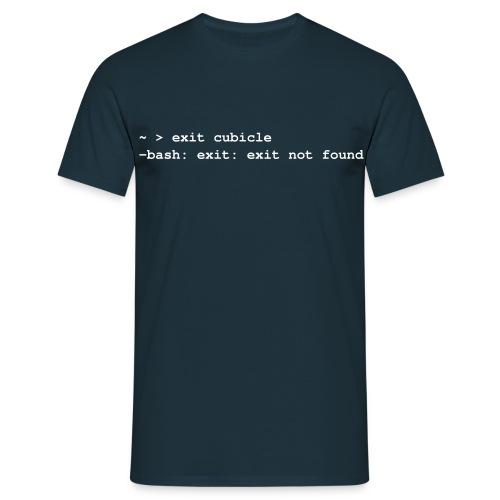 exit cubicle - Männer T-Shirt