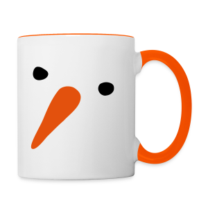 Schneemann - Tasse zweifarbig