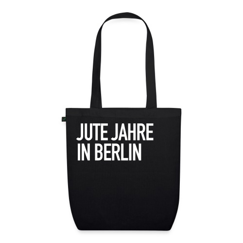 Jute Jahre in Berlin - Black - Bio-Stoffbeutel