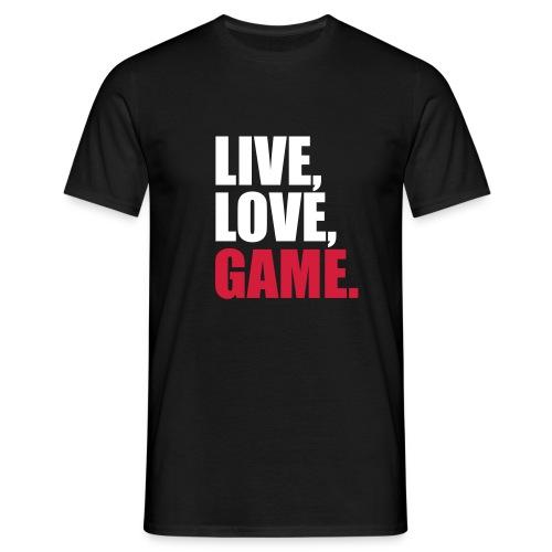 live,love,game-schwarz - Männer T-Shirt