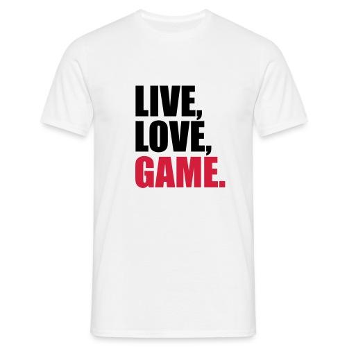 live,love,game-weiß - Männer T-Shirt