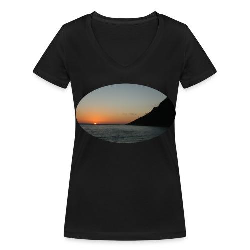 Lett T- skjorte Dame - Økologisk T-skjorte med V-hals for kvinner fra Stanley & Stella