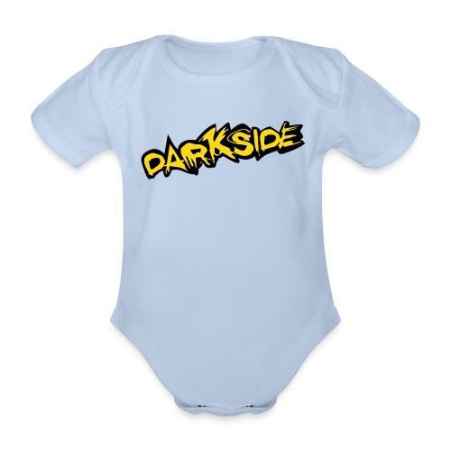 3 Month Baby Vest - Darkside 2 - Organic Short-sleeved Baby Bodysuit