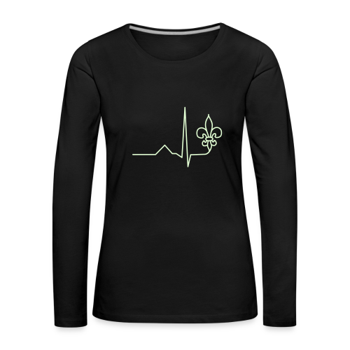Scouting is Heartbeat - Longsleeve, Glowing - Women's Premium Longsleeve Shirt