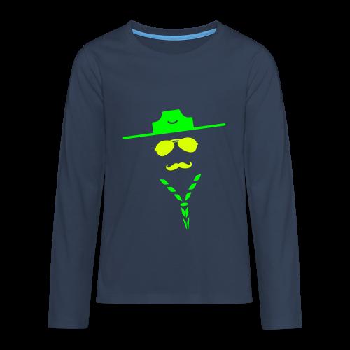Moustache - Longsleeve - Teenagers' Premium Longsleeve Shirt