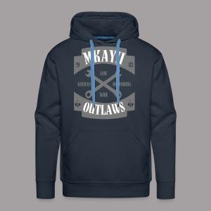 dIIb  Mkay2 Outlaws-Hoodie grau - Männer Premium Hoodie
