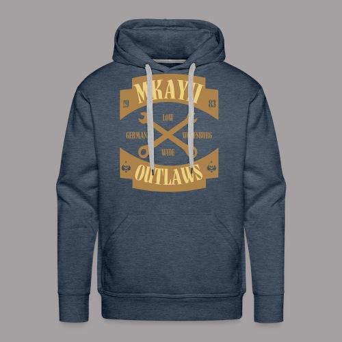 dIIb  Mkay2 Outlaws-Hoodie beige-braun - Männer Premium Hoodie
