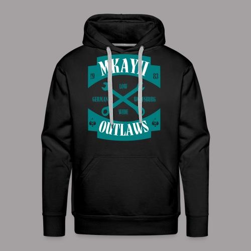 dIIb  Mkay2 Outlaws-Hoodie emerald-weiss - Männer Premium Hoodie