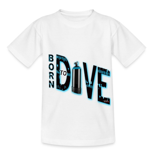Born to dive - Kinder T-Shirt