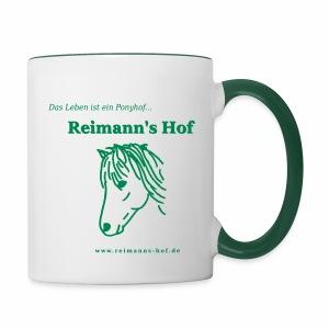 Tasse 'Reimann's Hof' - Islandpferd -  - Tasse zweifarbig