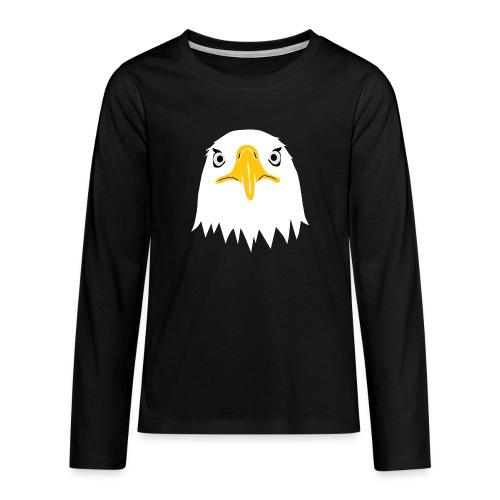 adler eagle adlerauge weßkopf seeadler vogel adlerkopf  T-Shirts - Teenager Premium Langarmshirt