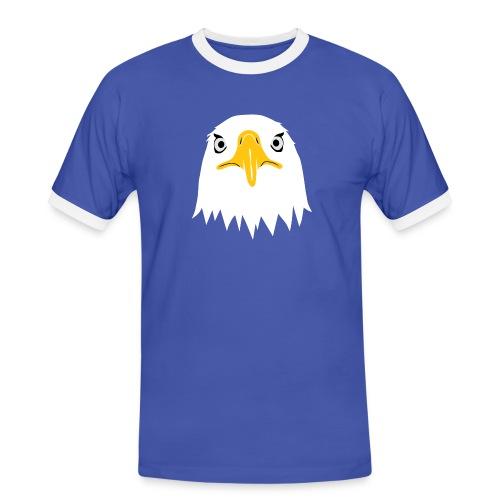 adler eagle adlerauge weßkopf seeadler vogel adlerkopf  T-Shirts - Männer Kontrast-T-Shirt