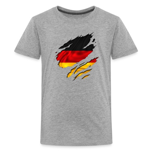 D-Shirt (grau) - Teenager Premium T-Shirt