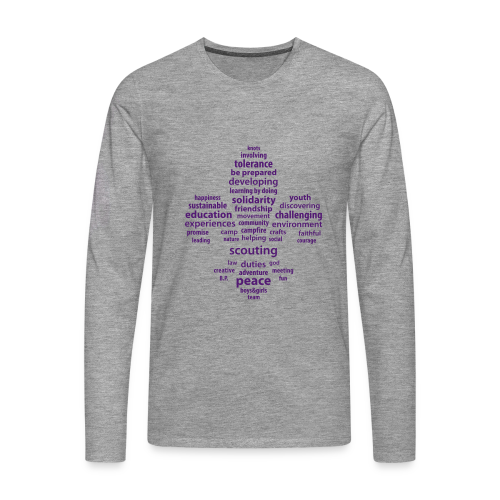 Scouting is.. longsleeve front - Men's Premium Longsleeve Shirt