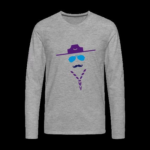 Moustache - Longsleeve - Men's Premium Longsleeve Shirt