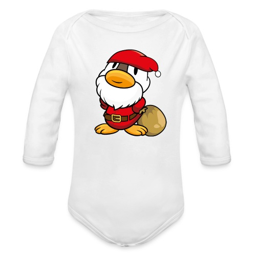Ente kleine süße Ente als Weihnachtsmann Langarm Body - Baby Bio-Langarm-Body